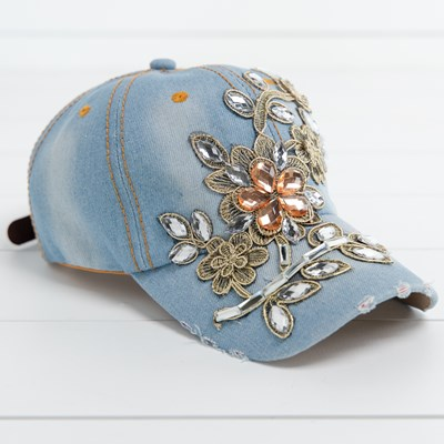 Denim Bling Hat