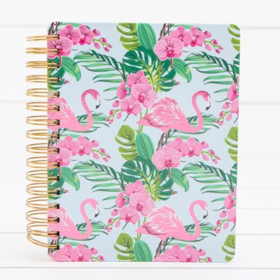 Flamingo and Orchids Planner