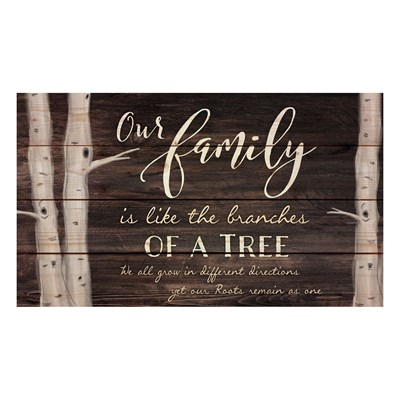 """Our Family"" Pine Pallet Wall Decor"