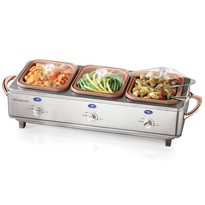 Deluxe Stainless Steel Cook & Serve Buffet Server