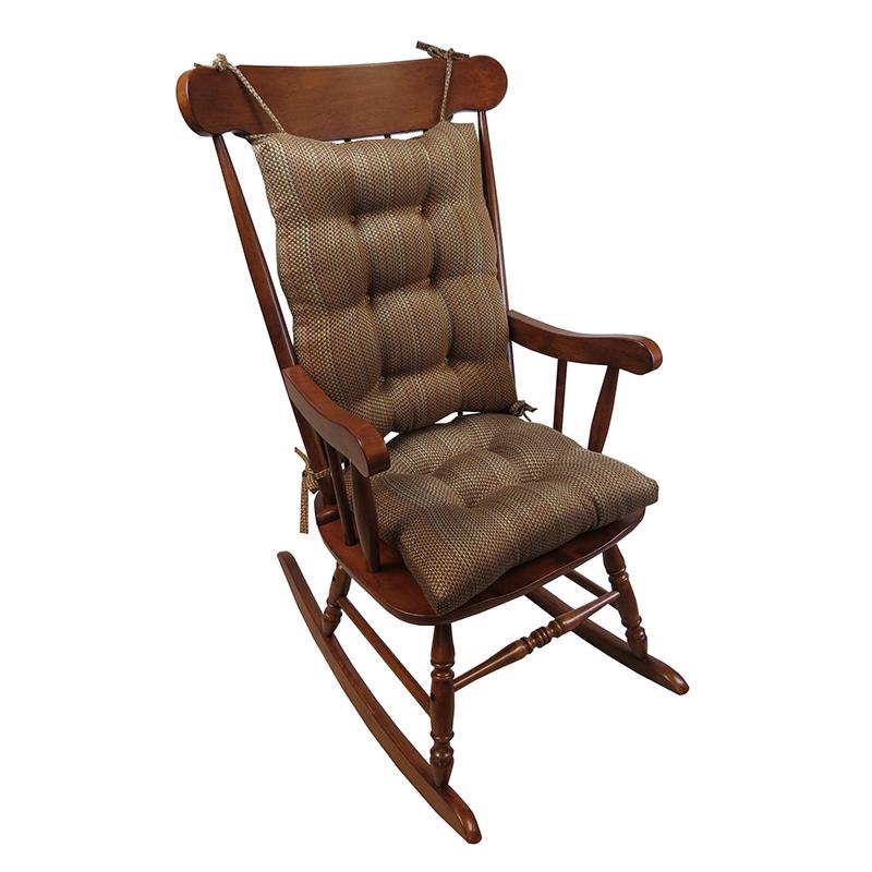 XL Rocking Chair Cushion Set With Gripper Bottom