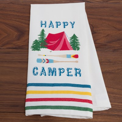 """Happy Camper"" Kitchen Towel"