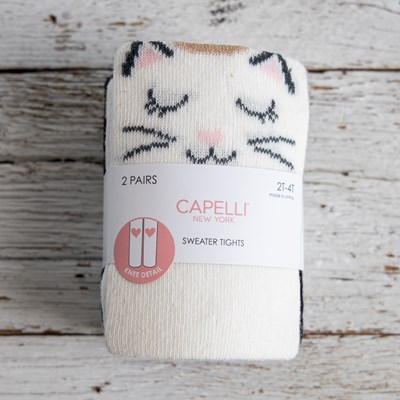 Cat Knee Sweater Tights - Two Pack
