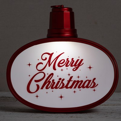 Light-Up Hanging Merry Christmas Sign