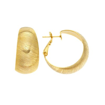 Gold Plated Wedding Band Hoop Earring