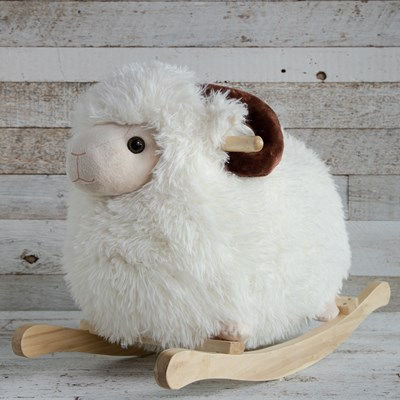 Oh Gussie! Fluffy Sheep Rocker Ride-On Toy