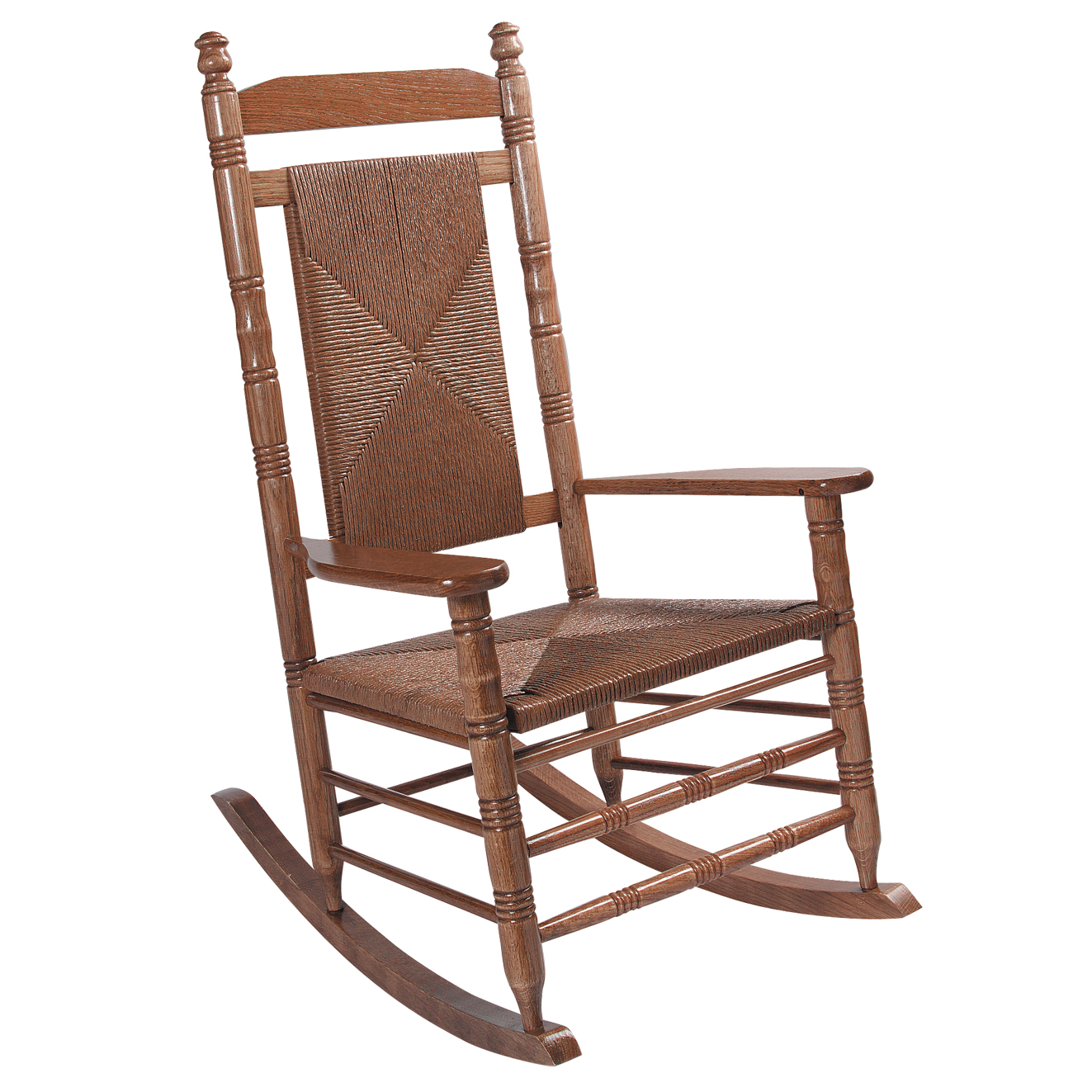 Woven Seat Rocking Chair   Hardwood