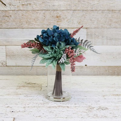 Dahlia and Hydrangea Faux Floral Arrangement