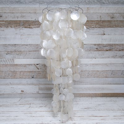 Tiered Capiz Shell Chandelier