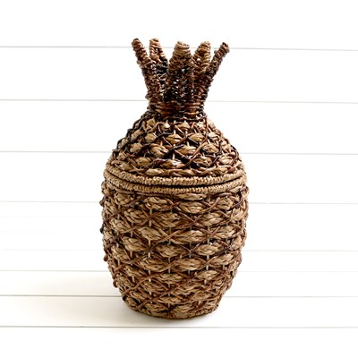 Small Woven Pineapple Storage Basket