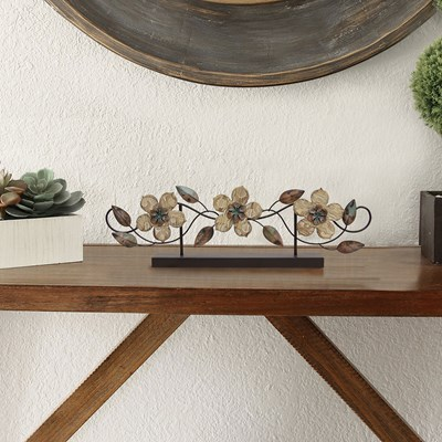 Stamp Wood Flower Table Top