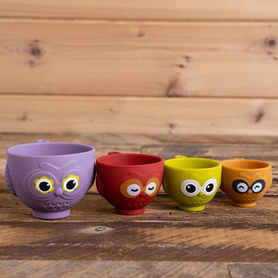 Silicone Owl Measuring Cup Set