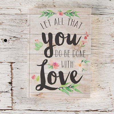 """Done with Love"" Shiplap Journal"