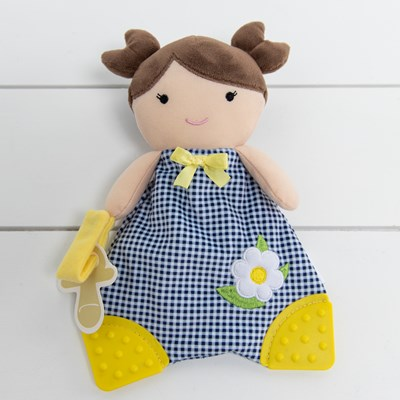 Gingham Girl Teether Lovie