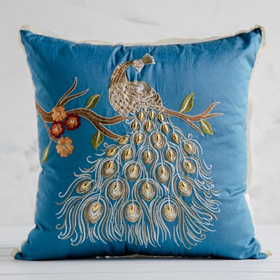 Decorative Peacock Pillow