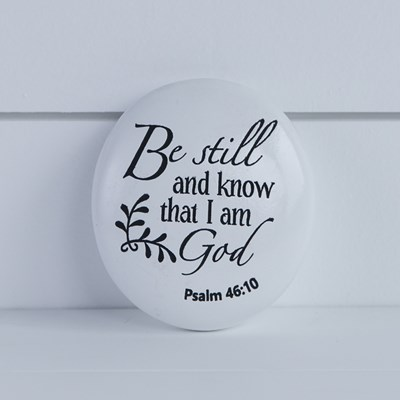 """Be Still and Know"" Decorative Stone"