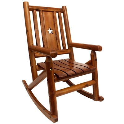 Amber-Log Wooden Star Rocker