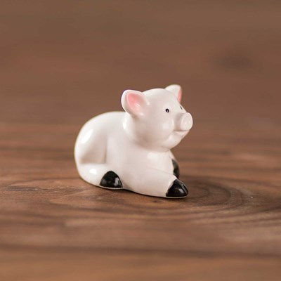 Mini White Pig Pepper Shaker