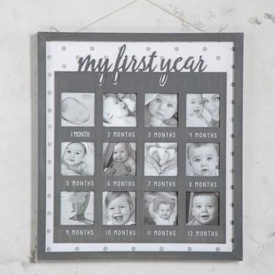 Baby's First Year Wall Photo Frame