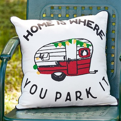 """Home is Where You Park It"" Pillow"