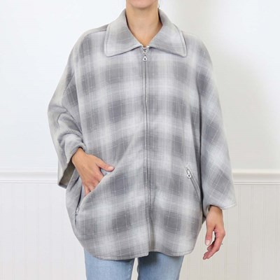 Grey Plaid Short Wrap