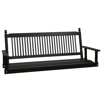 5' Porch Swing - Black