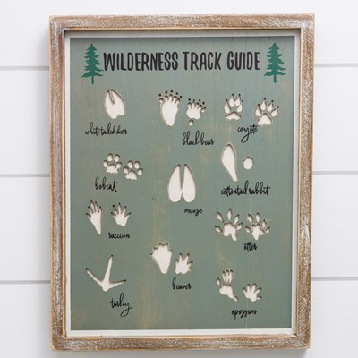 Wilderness Track Guide Framed Decor