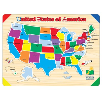 USA Map 40-Piece Lift and Learn Puzzle