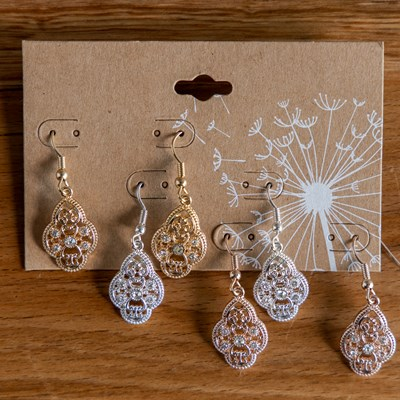 3-Piece Filigree Earring Set