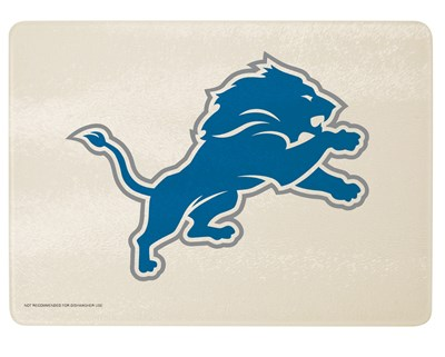Detroit Lions Glass Cutting Board