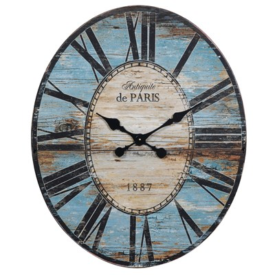 Oval Wood Wall Clock