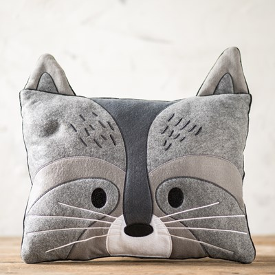 Felt Raccoon Pillow
