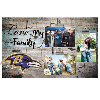 Baltimore Ravens - I Love My Family Clip Frame