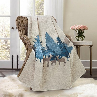 Watercolor Forest Throw By Donna Sharp