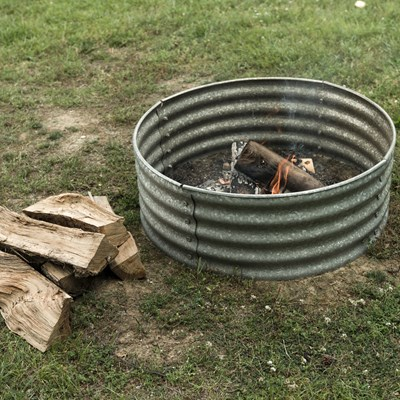"36"" Armco Style Iron Fire Ring"