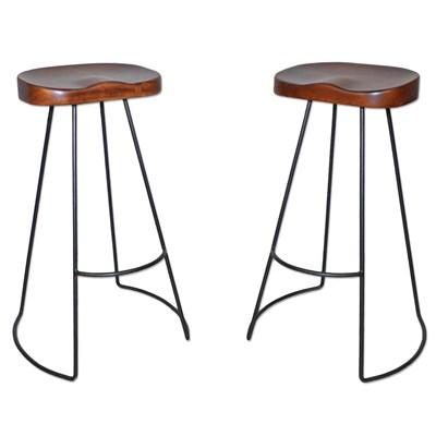 Industrial Tractor Seat Bar Stool - Set of 2