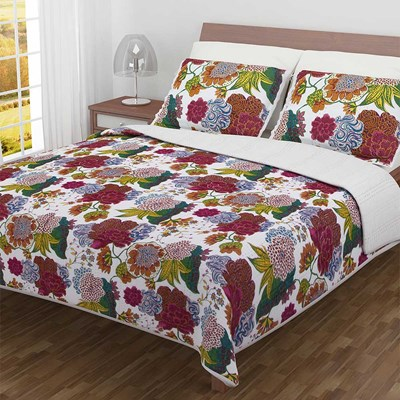 Tina Floral Whole Cloth Quilt - Queen
