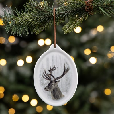 Ceramic Plaque Ornament - Deer