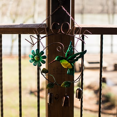Hummingbird Welcome Wind Chime