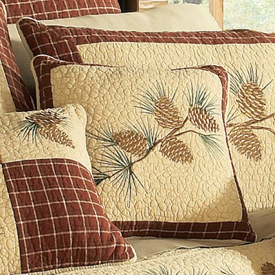 Pine Lodge Quilted Pillow by Donna Sharp - Branch