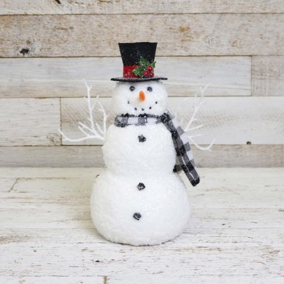 Snowman Decor with Holly