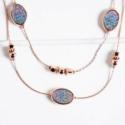 Glitter Paper Layered Necklace