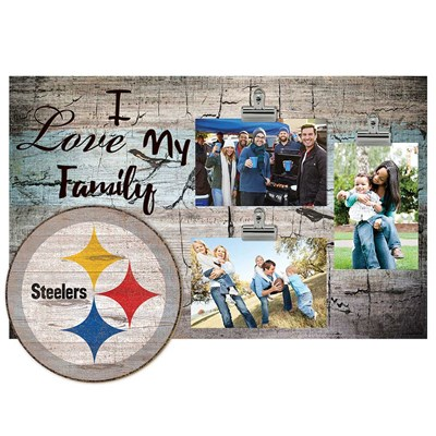 Pittsburgh Steelers - I Love My Family Clip Frame