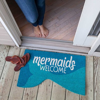 Mermaids Welcome Slip Resistant Coir Doormat