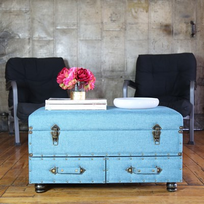 Linen Storage Trunk - Blue