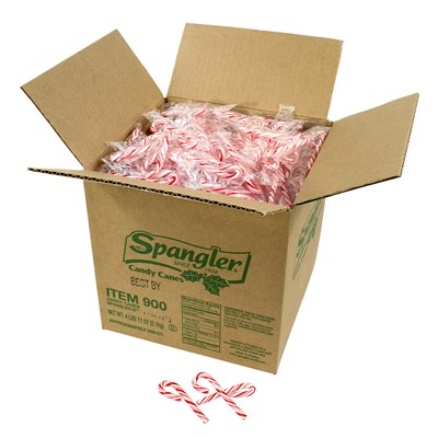 Spangler Mini Peppermint Candy Canes - 500 Count