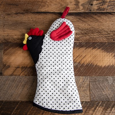 Rooster Oven Mitt