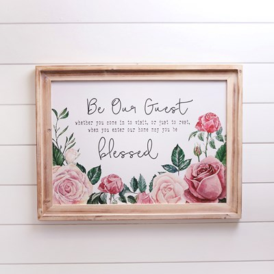 Be Our Guest Wall Decor
