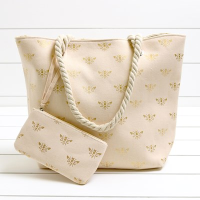 Bees 2-in-1 Beach Tote