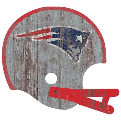 New England Patriots - Distressed Helmet